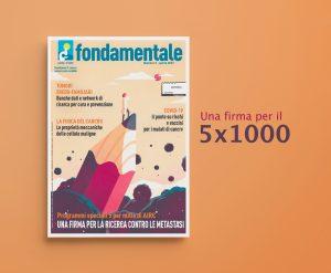 Copertina illustrata rivista Fondamentale