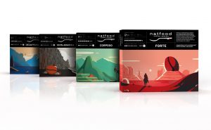 Illustrated coffee pack for Natfood