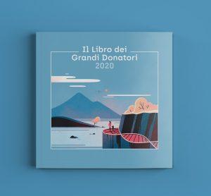 Illustrazione Libro Grandi Donatori AIRC - copertina